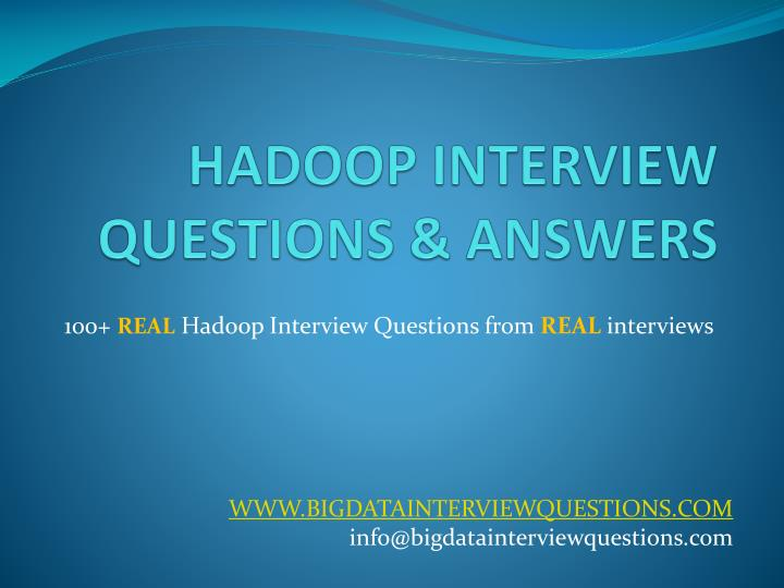 hadoop interview questions answers n.
