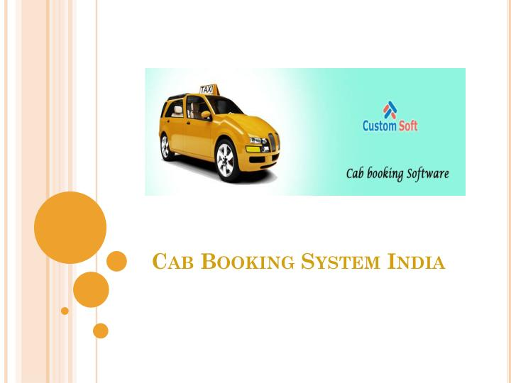 cab booking system india n.