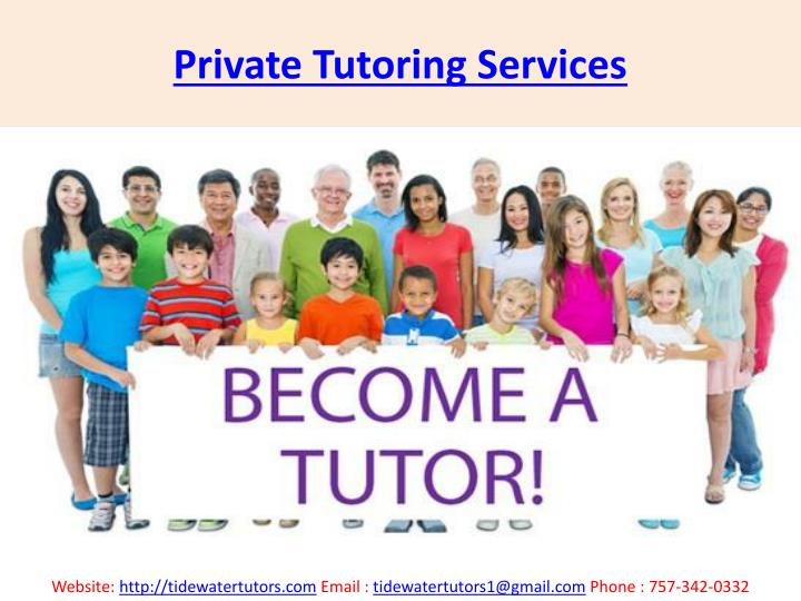 Private tutoring services