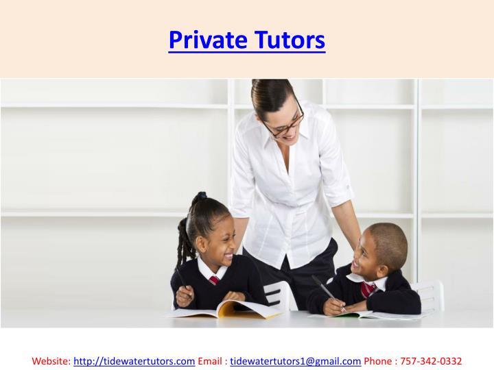 Private Tutors