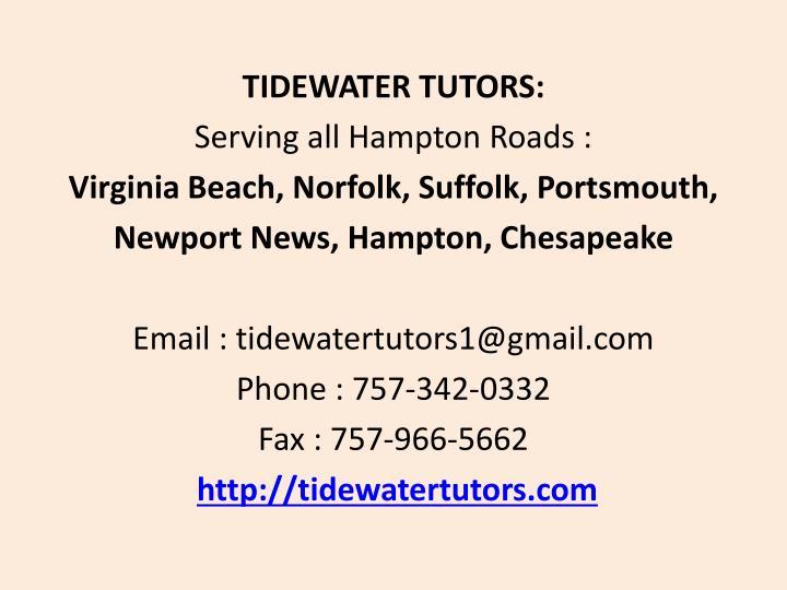 TIDEWATER TUTORS: