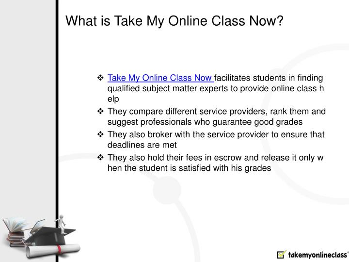 What is Take My Online Class Now?