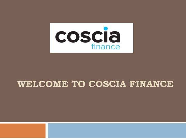welcome to coscia finance n.