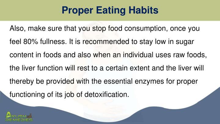 Proper Eating Habits