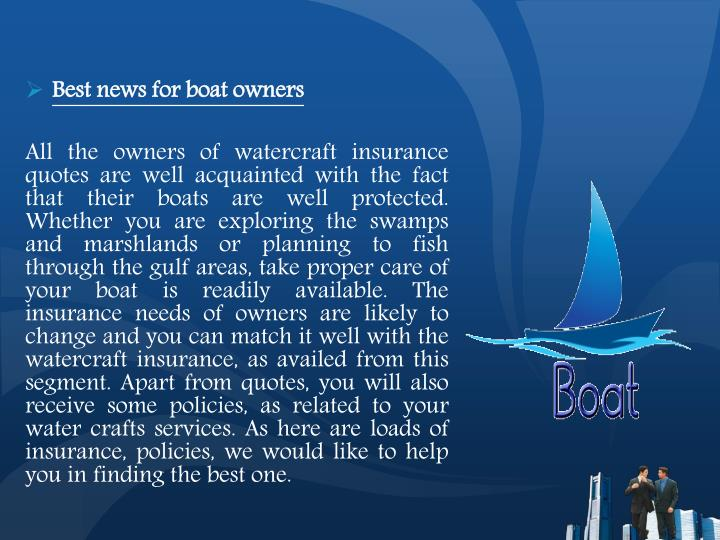 Best news for boat owners