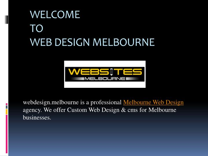 welcome to web design melbourne n.