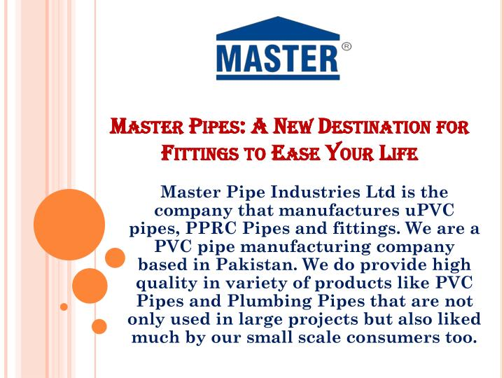 PPT - Master Pipes: A New Destination for Fittings to Ease Your Life