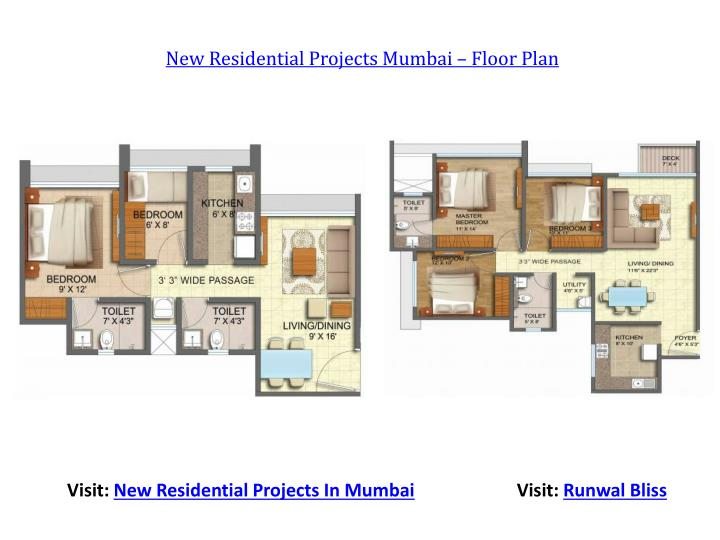 New Residential Projects Mumbai – Floor Plan