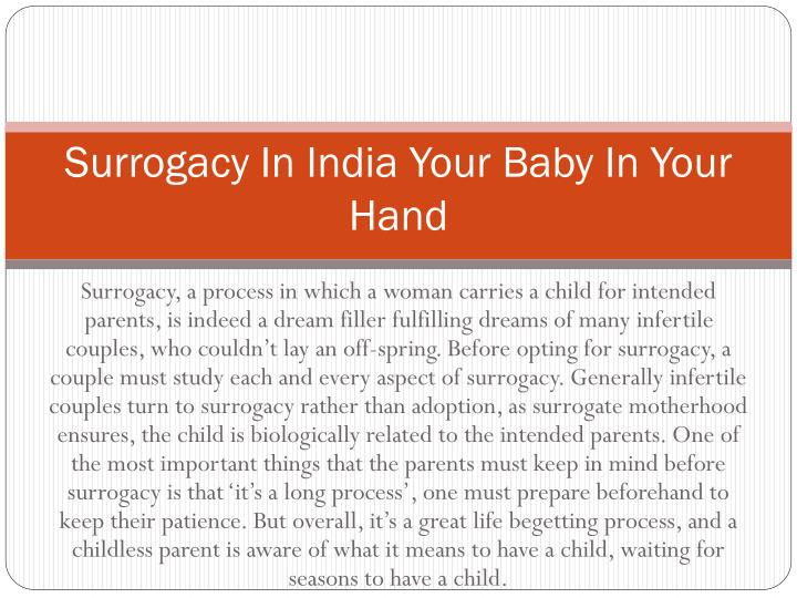 surrogacy in india your baby in your hand n.
