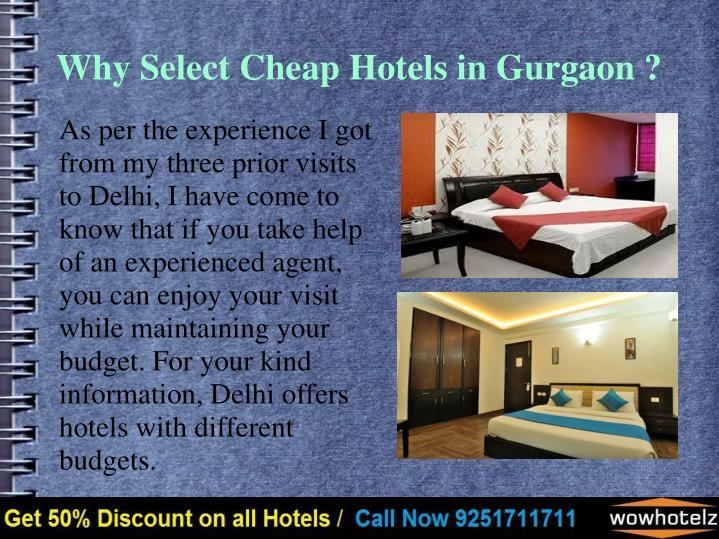 Why Select Cheap Hotels in Gurgaon ?