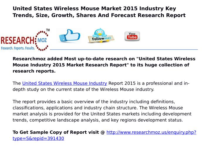 United States Wireless Mouse Market 2015 Industry Key