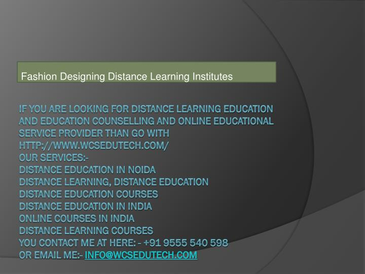 Ppt Fashion Designing Distance Learning Institutes Powerpoint Presentation Id 7221322