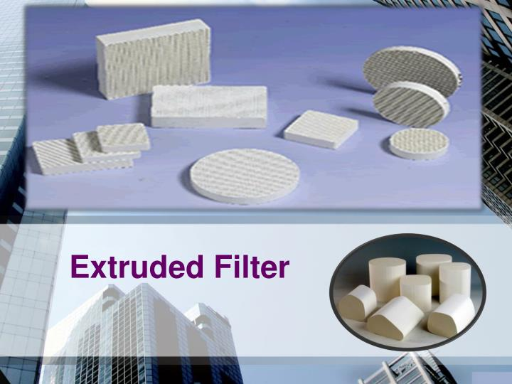 extruded filter n.
