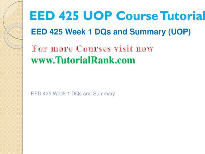 Eed 425 uop course tutorial2