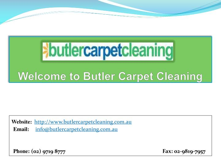 welcome to butler carpet cleaning n.