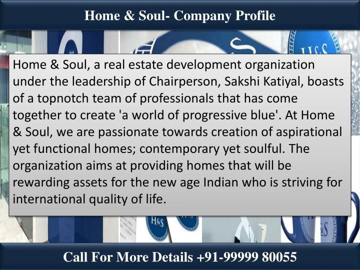 Home & Soul- Company Profile