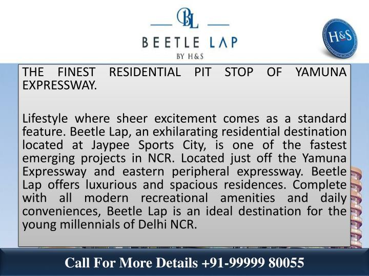 THE FINEST RESIDENTIAL PIT STOP OF YAMUNA EXPRESSWAY