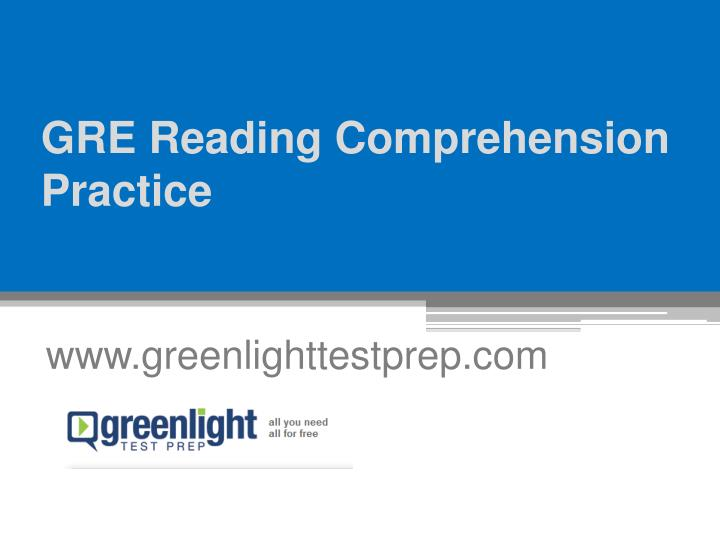 gre reading comprehension practice n.