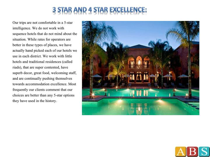 3 Star and 4 Star excellence: