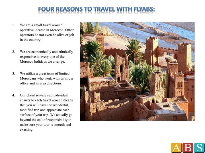 Four reasons to travel with flyabs