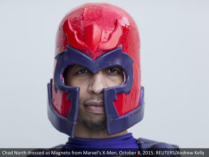 Chad North dressed as Magneto from Marvel's X-Men, October 8, 2015. REUTERS/Andrew Kelly