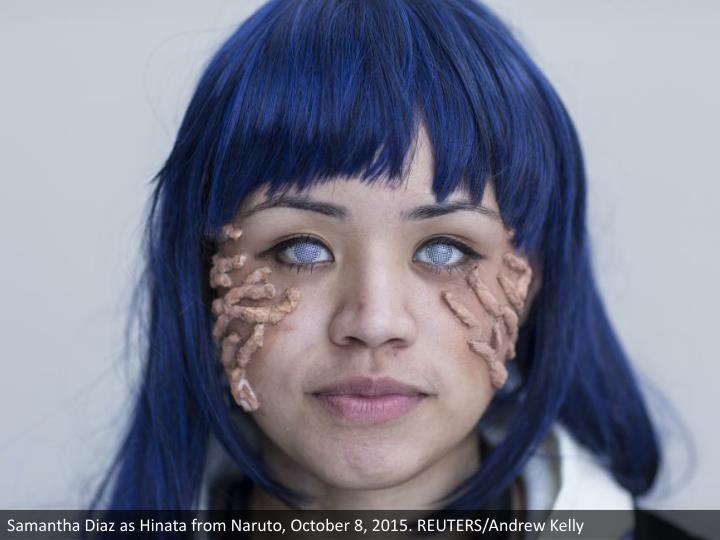 Samantha Diaz as Hinata from Naruto, October 8, 2015. REUTERS/Andrew Kelly