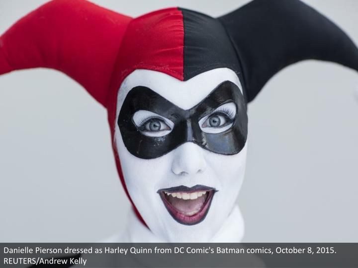 Danielle Pierson dressed as Harley Quinn from DC Comic's Batman comics, October 8, 2015. REUTERS/Andrew Kelly