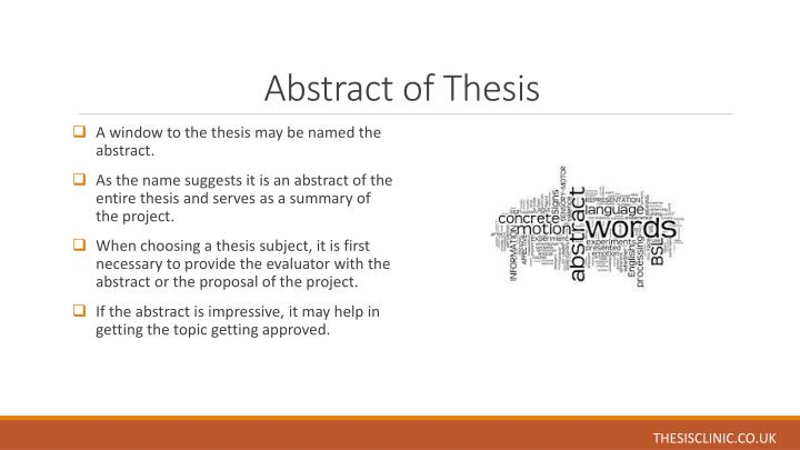 abstract of thesis