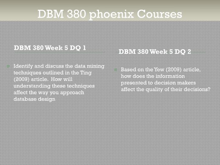 dbm 380 week 4 normalization of huffman erd doc Dbm/380 week 4 normalization of the smith consulting erd the following assignment is based on the database environment chosen and created in.