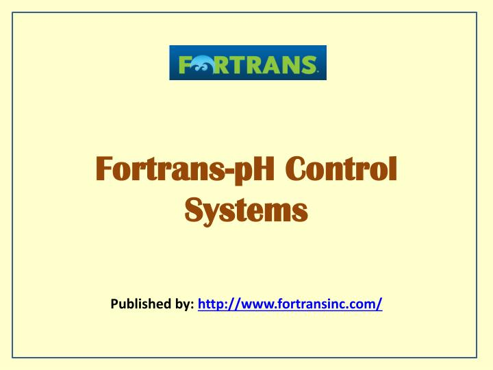 fortrans ph control systems n.