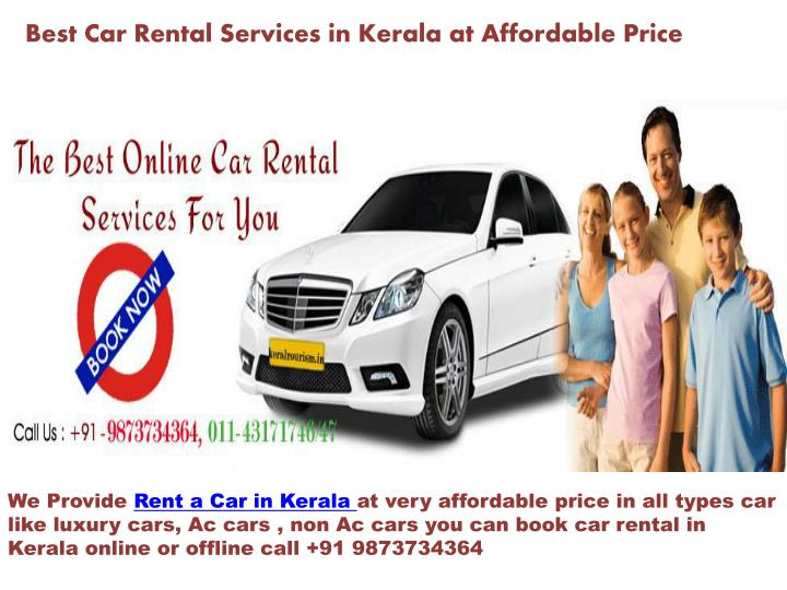 best car rental services in kerala at affordable price n.