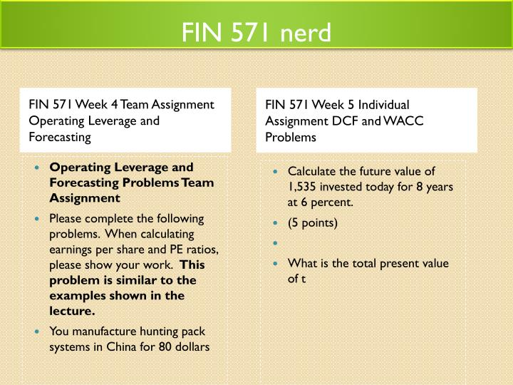 fin 571 text problem sets wk2 Fin 571 week 2 dq 1 for more classes visit wwwfin571nerdcom in order to receive proper credit, please reply to this message when posting your answers to wk2 dq1 suppose you own $1 million worth of 30-year treasury bonds.
