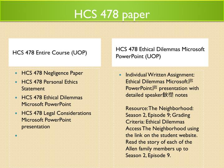 ethical dilemma powerpoint hcs 478 Individual written assignment: ethical dilemmas microsoft庐 powerpoint庐 presentation with detailed speaker鈥檚 notes resource: the neighborhood: season 2, episode 9 grading criteria: ethical dilemmas access the neighborhood using the link on the student website read the story of each of the allen family members up to season 2.