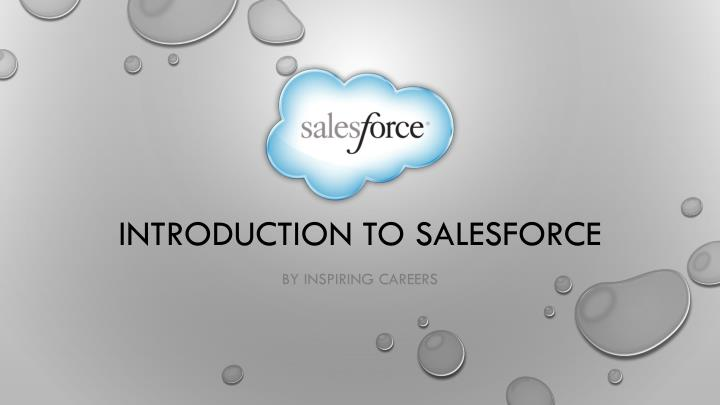 introduction to salesforce n.