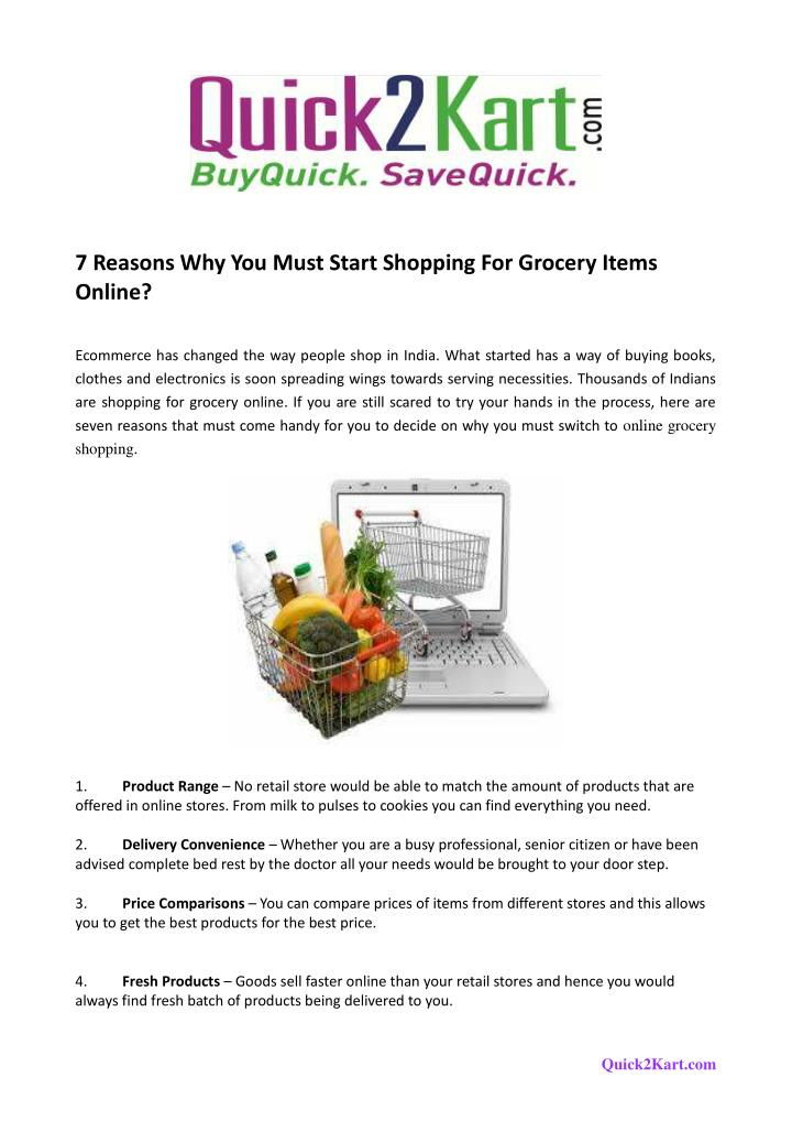 PPT - 7 Reasons Why You Must Start Shopping For Grocery