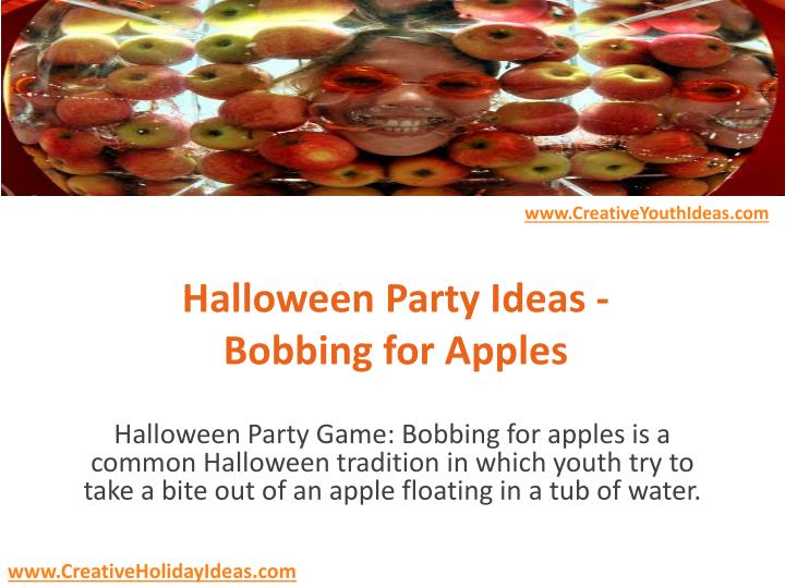 halloween party ideas bobbing for apples n.