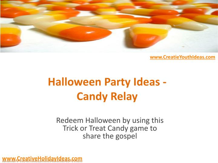 halloween party ideas candy relay n.