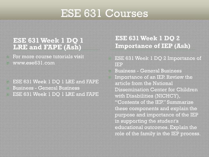 ese 631 week 4 dq 2 Ese 697 week 2 dq 2 designing a mini lesson in phonics or oral languag1 devry university, new york ese 631 - fall 2016 ese 697 week 2 dq 2 designing a mini lesson in phonics or oral languag1.