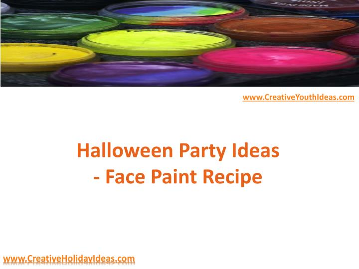 halloween party ideas face paint recipe n.
