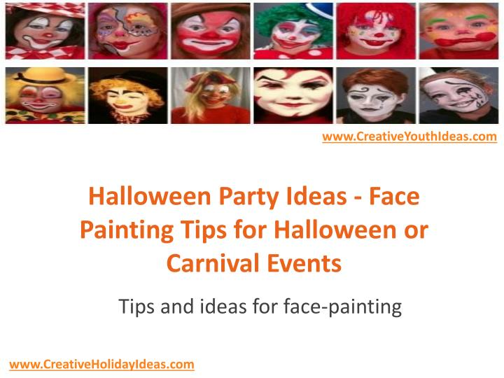 halloween party ideas face painting tips for halloween or carnival events n.