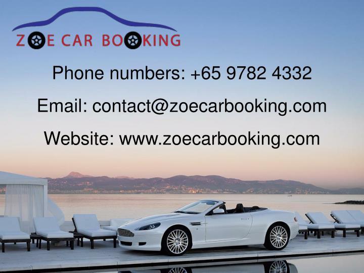 Phone numbers: +65 9782 4332
