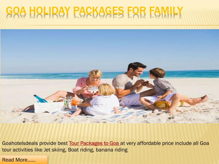 goa holiday packages for family n.