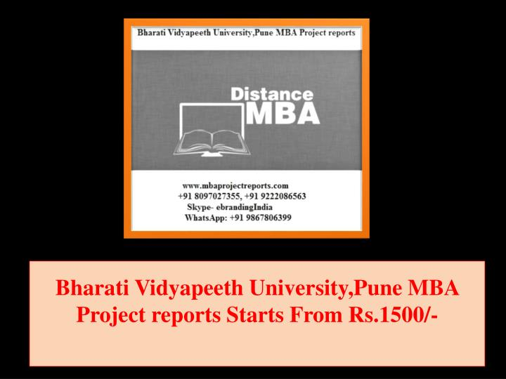bharati vidyapeeth university pune mba project reports starts from rs 1500 n.