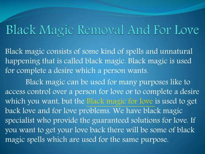black magic removal and for love n.
