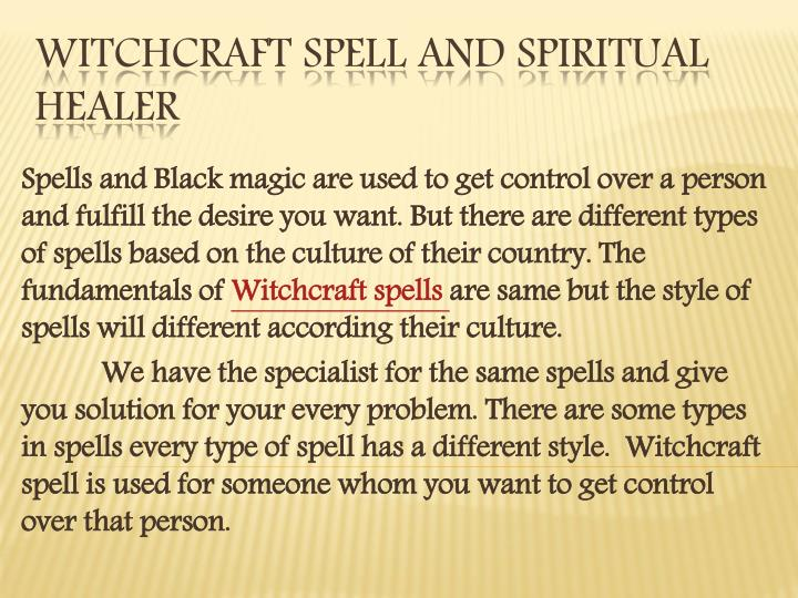 witchcraft spell and spiritual healer n.