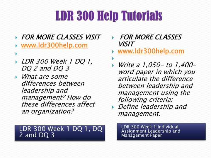 ldr 300 Study ldr300 innovative leadership from university of phoenix view ldr300 course topics and additional information.