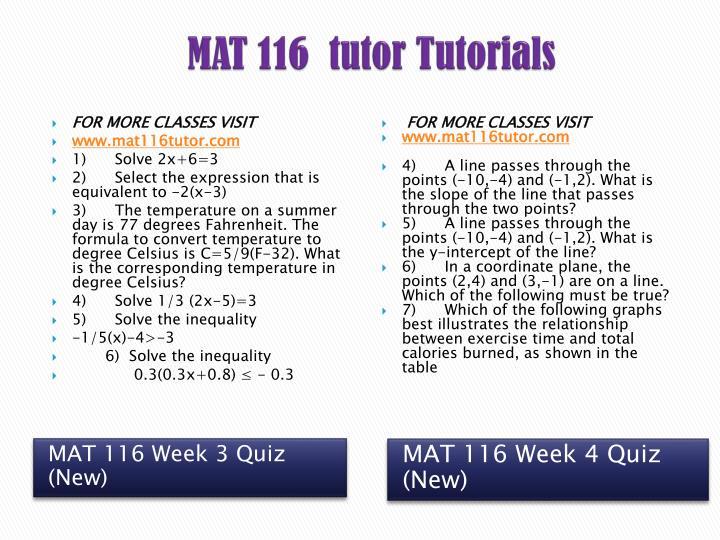 mat 116 week 2 exercise concept
