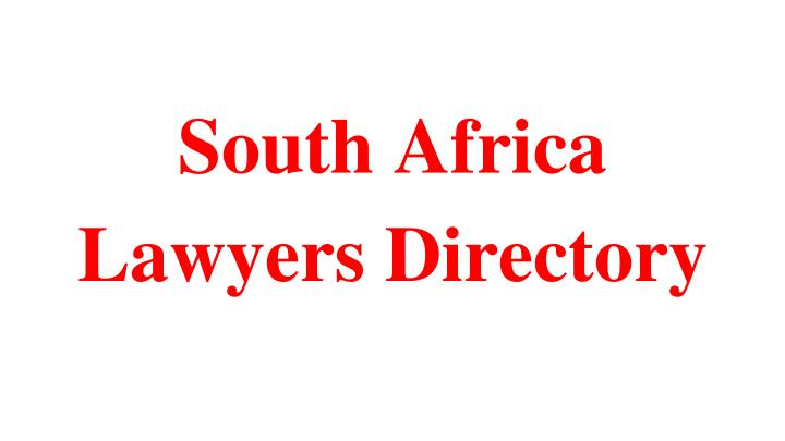 south africa lawyers directory n.
