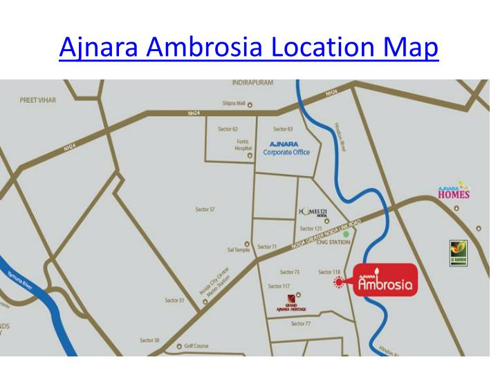 Ajnara ambrosia location map