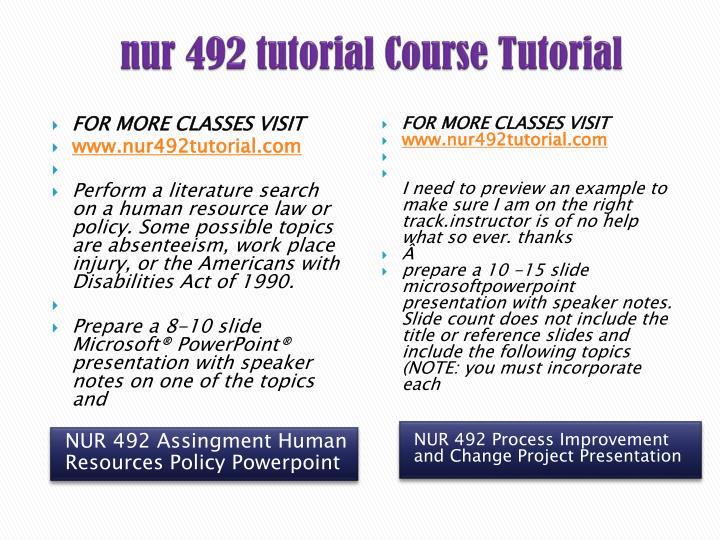 nur 492 human resource policy presentation